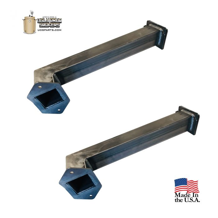 HIGH FLOW Short Style UDS Upright Intake Set Square, 15 inches high, FatMax™ 2 inch square tube (2 pcs)