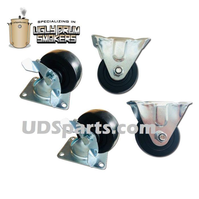 UDSparts™ Locking Wheel Kit for 55 gallon or 30 gallon UDS