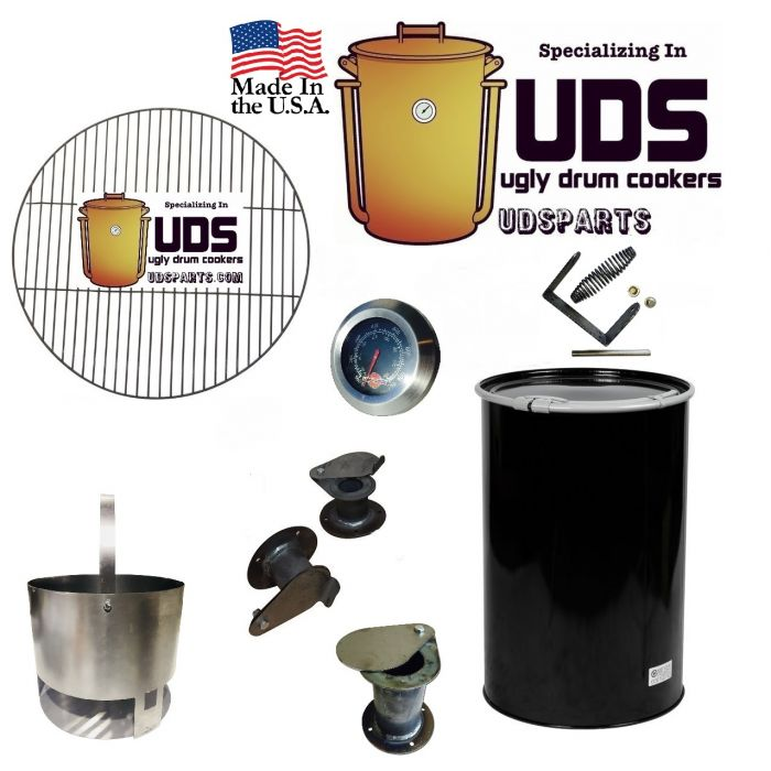 UDSparts™ Slick Side Complete Drum Kit w/ Drum - Build your own 55 gallon UDS Smoker