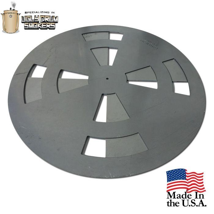 UDS drum Pinwheel Baffle - 2 piece charcoal basket tuning plates