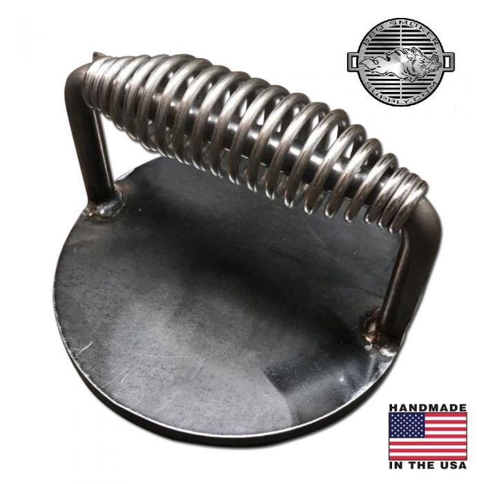 Steak Press Burger Bacon Weight with Stainless Handle, Heavy Duty by the Burn Shop