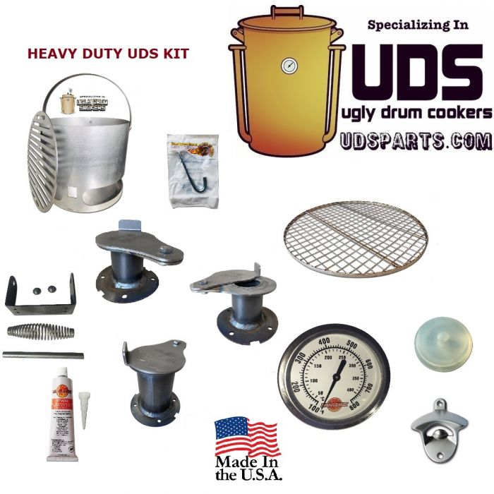 HEAVY DUTY UDS Parts kit -  55 gallon Ugly Drum Smoker - screw, rivet, or weld together by LavaLock®