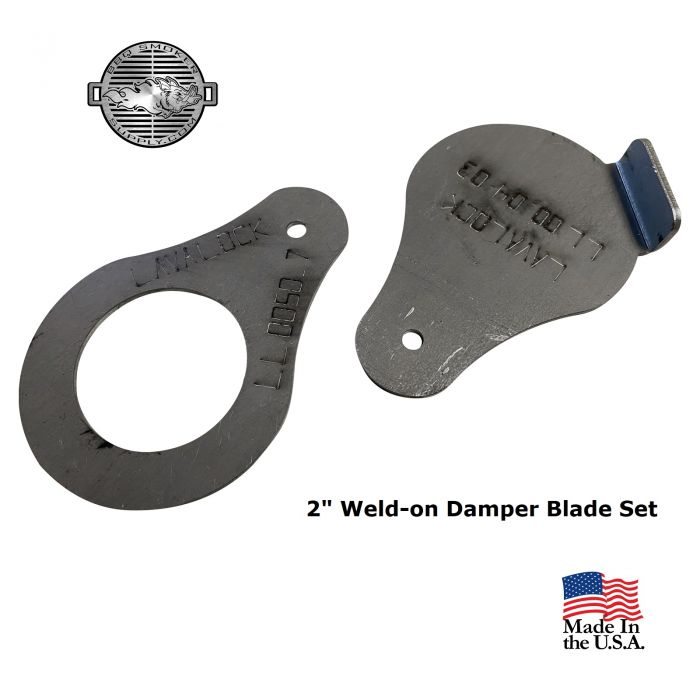2 inch diameter Tear Drop damper blade set (BLADES ONLY)
