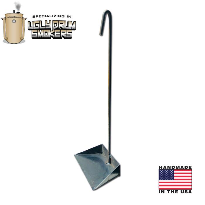 LavaLock® Drum Ash Removal Tool, ash pan rake for Ugly Drum Smoker