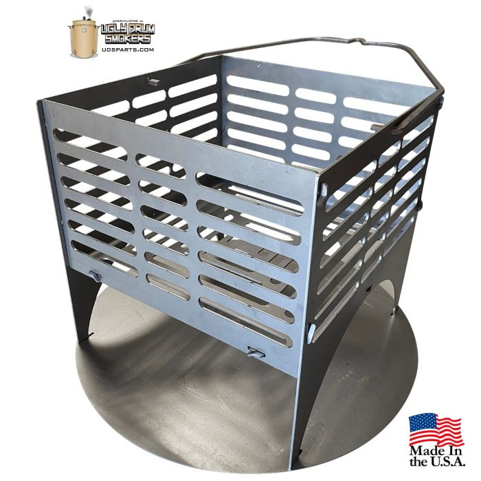 Snap Basket by LavaLock 12x12x12 Uds Charcoal basket with ash pan, clip together or weld (unassembled)