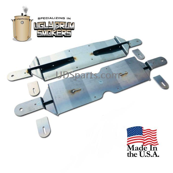 Locking UDS low profile cart wheel kit 55 gallon drum