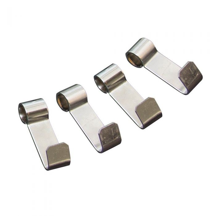 Stainless Rib Hooks, 4 pk - hanging meat method in a UDS