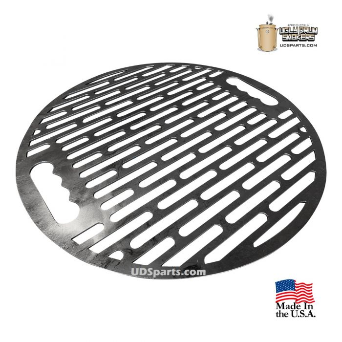 UDS cooking grate for 55 Gallon Drum Smokers - UDS slotted grate with handles