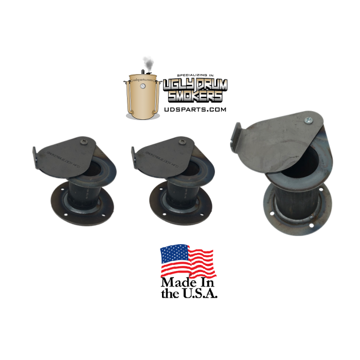 UDS damper combo pack. DIY drun smoker intake and exhaust set - 3 pack
