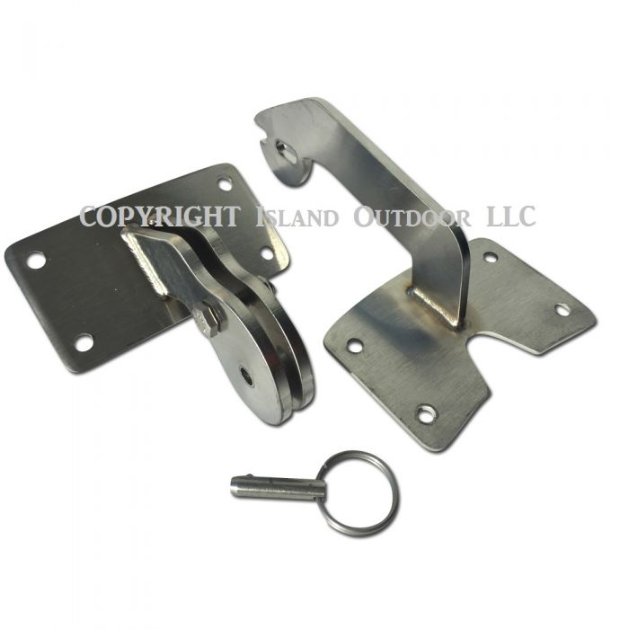 Stainless UDS Hinge for Ugly Drum Smoker Stainless w/ quick release
