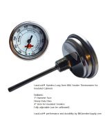 """3"""" adjustable thermometer 4 in. long stem"""