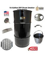 16 Gallon Drum small drum smoker kit complete WITH NEW UNLINED DRUM