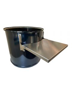 """Folding Side Shelf for 22"""" WSM or 55 gallon Ugly Drum Smoker - Stainless Side Table"""