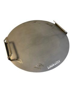 Flat Griddle Top for UDS Drum Smoker  (Flat top grill also fits Weber Kettle 22.5)