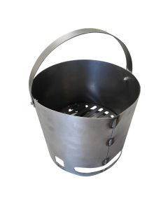 Charcoal Basket for 16 gallon or mini UDS ugly drum smoker - 9 x 9 round