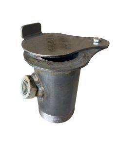 """UDS 2 in threaded exhaust damper with 1/2"""" NPT thermometer WITH BUNG - Steel, Bolt on"""