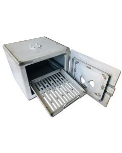 smoker pit complete diy fire box